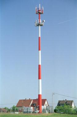 27A A Debrecen U 40 m-es monopol oszlop
