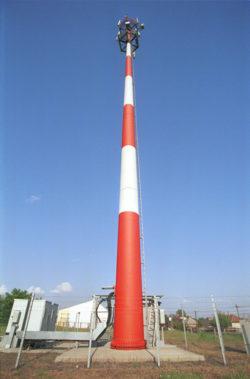 33A A Debrecen U 40 m-es monopol oszlop